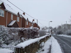 Bow Road in Snow