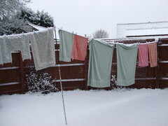 Snow on the washing line