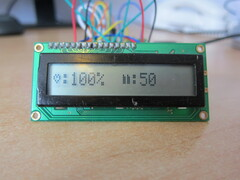 LCD display closeup